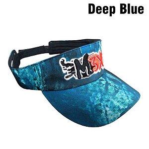 Boné Viseira Monster 3X - Série CAMO Deep Blue