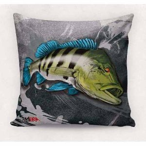 Almofada Travesseiro decorativo Tucunaré Azul - Monster 3x