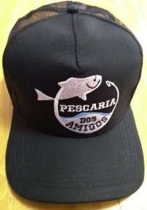 Boné Pescaria dos Amigos - Preto