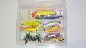 Kit de Iscas Artificiais Pescaria dos Amigos (11 Itens)