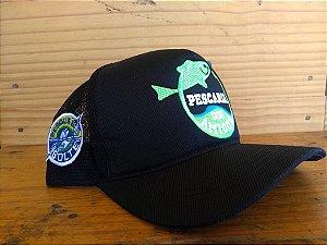 Boné Pescaria dos Amigos - Preto e Verde