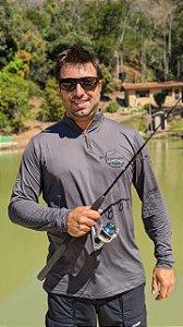 Camisa Pescaria dos Amigos c/ Protetor UV e UVB - Cinza