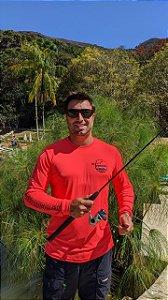 Camisa Pescaria dos Amigos c/ Protetor UV e UVB - Vermelha