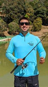 Camisa Pescaria dos Amigos c/ Protetor UV e UVB - Azul