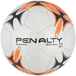 Bola Futebol Campo Penalty Brasil 70 R1 7 - Branco e Laranja