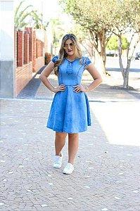 vestido jeans lili (Larissa esta usando tamanho p)