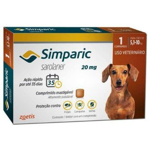 Simparic 20 mg 5,1 a 10 kg