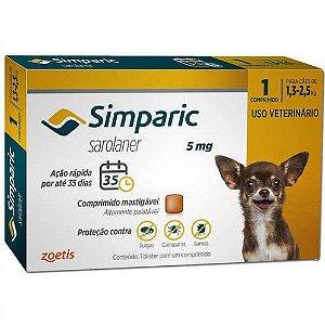 Simparic 5 mg 1,3 a 2,5 kg