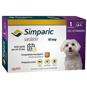 Simparic 10 mg 2,6 a 5 kg