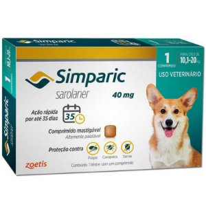 Simparic 40 mg 10,1 a 20 kg