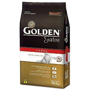Ração Golden para Gatos Adultos Sabor Carne - Leve 10,1 kg e Pague 9,1 kg