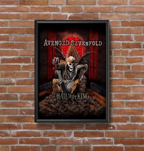 Quadro Placa Decorativo Banda Avenged Sevenfold Hail To The King Vermelho