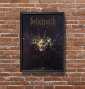 Quadro Placa Decorativo Banda Behemoth Preto & Branco
