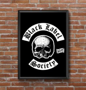 Quadro Placa Decorativo Banda Black Label Society Preto & Branco