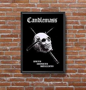 Quadro Placa Decorativo Banda Candlemass Epicus Doomicus Metallicus Preto & Branco