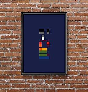 Quadro Placa Decorativo Banda Coldplay X&Y Azul