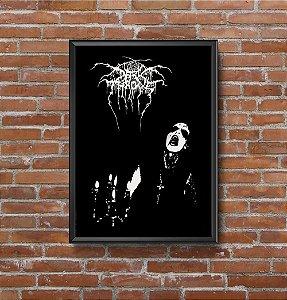Quadro Placa Decorativo Banda Darkthrone Transilvanian Hunger Preto & Branco