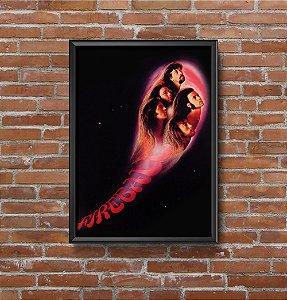 Quadro Placa Decorativo Banda Deep Purple Fireball Preto & Vermelho