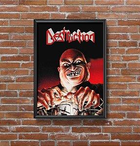 Quadro Placa Decorativo Banda Destruction Live Without Sense Preto & vermelho