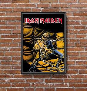 Quadro Placa Decorativo Banda Iron Maiden Amarelo &Preto
