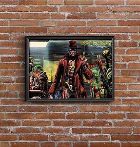 Quadro Placa Decorativo Banda Iron Maiden Vermelho &Preto