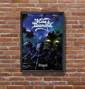Quadro Placa Decorativo King Diamond Abigail Azul & Branco