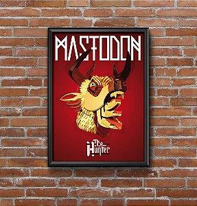 Quadro Placa Decorativo Banda Mastodon The Hunter Vermelho & Amarelo