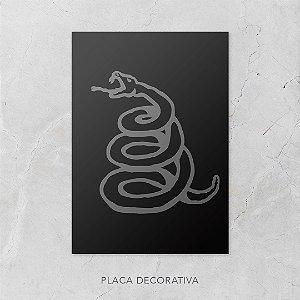 Quadro Placa Decorativo Banda Metallica Preto & Branco