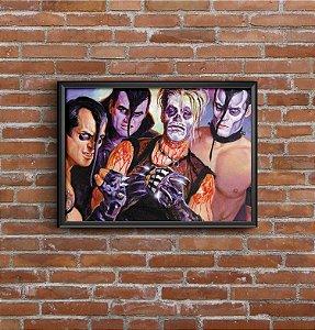 Quadro Placa Decorativo Banda Misfits Azul & Vermelho