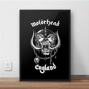 Quadro Placa Decorativo Banda Motorhead England Preto & Branco