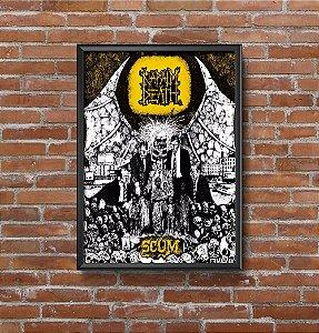 Quadro Placa Decorativo Banda Napalm Death Scum Preto & Amarelo
