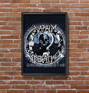 Quadro Placa Decorativo Banda Napalm Death Smear Campaign Preto & Branco