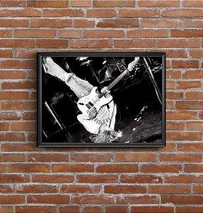 Quadro Placa Decorativo Banda Nirvana Preto & Branco