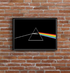Quadro Placa Decorativo Banda Pink Floyd The Dark Side Of The Moon Preto & Branco
