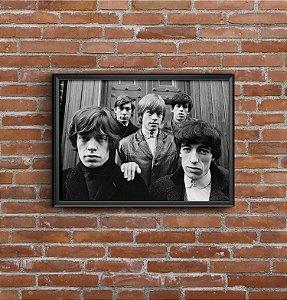 Quadro Placa Decorativo Banda Rolling Stones Preto & Branco