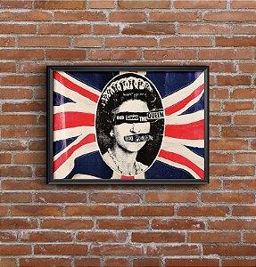 Quadro Placa Decorativo Banda Sex Pistols Vermelho & Azul