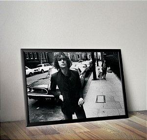 Quadro Placa Decorativo Syd Barrett Preto & Branco