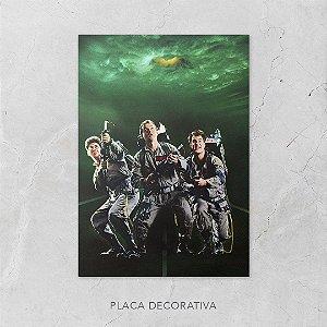 Quadro Placa Decorativo Filme Os Caça-Fantasmas Preto & Verde