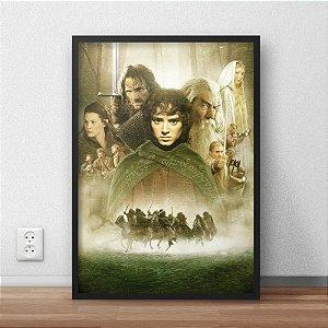 Quadro Placa Decorativo Filme O Senhor Dos Anéis Preto & Verde