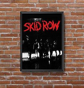 Quadro Placa Decorativo Banda Skid Row Preto & Vermelho