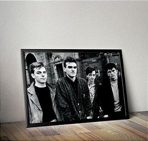 Quadro Placa Decorativo Banda The Smiths Preto & Branco