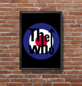 Quadro Placa Decorativo Banda The Who Preto & Azul
