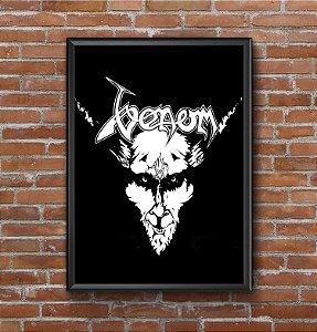 Quadro Placa Decorativo Banda Venom Black Metal Preto & Branco