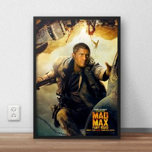 Quadro Placa Decorativo Filme Mad Max Estrada Da Fúria Verde & Amarelo