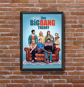 Quadro Placa Decorativo Série The Big Bang Theory Azul & Vermelho