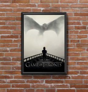 Quadro Placa Decorativo Série Game Of Thrones Preto & Branco