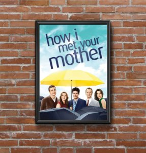 Quadro Placa Decorativo Série How Met Your Mother Azul & Amarelo