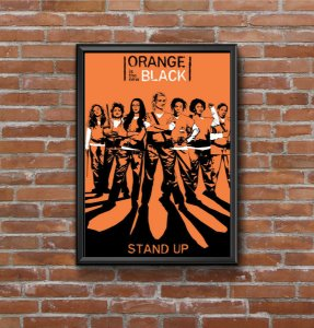 Quadro Placa Decorativo Série Orange Is New Black Laranja & Preto