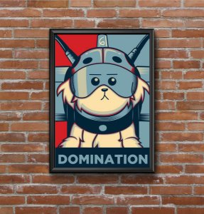Quadro Placa Decorativo Ricky And Morty Domination Vermelho & Azul