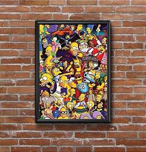 Quadro Placa Decorativo Os Simpsons Amarelo & Preto